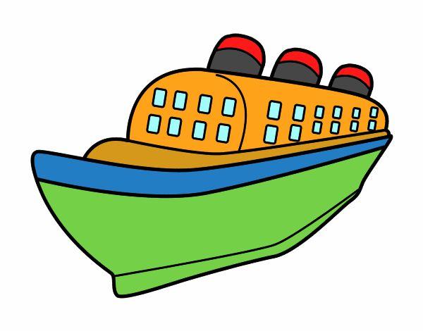 Dessin de navire paquebot colorie par membre non inscrit - Paquebot dessin ...
