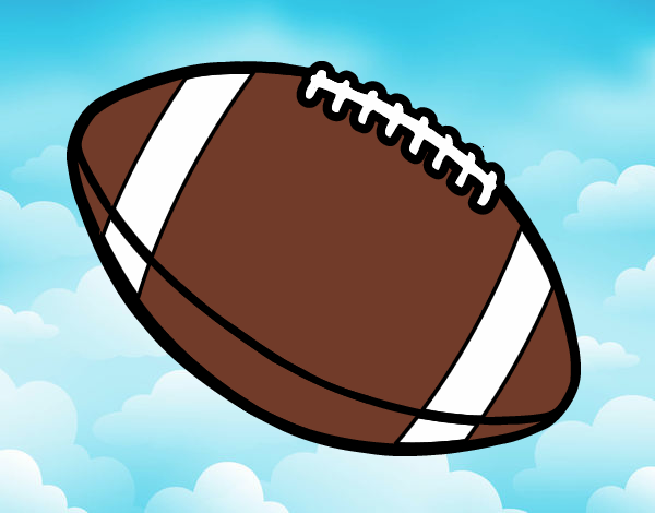 Dessin de balle de football am ricain colorie par membre - Dessin football americain ...