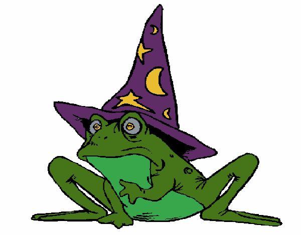 Magicien transformé en grenouille