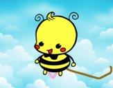 Coloriage Bébé abeille colorié par raphael