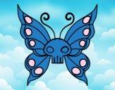 Coloriage Papillon Emo colorié par raphael