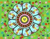 Mandala en forme fleur