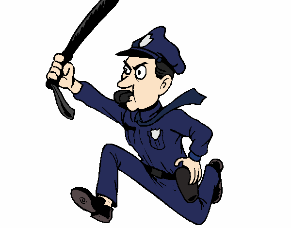 Policier qui court