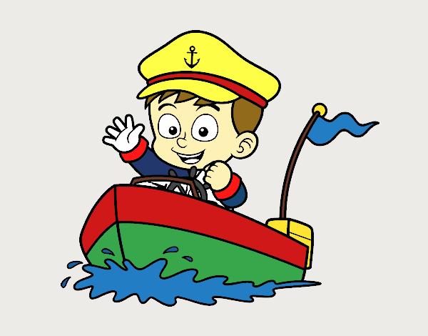 Dessin De Bateau Et Capitaine Colorie Par Membre Non Inscrit Le 06 De Avril De 2017 A Coloritou Com