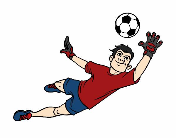 Dessin de un gardien de but de football colorie par membre - Gardien de but dessin ...