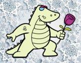 Coloriage Dragon amoureux colorié par raphael