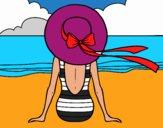 Femme regardant la mer