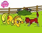 Applejack et Winona
