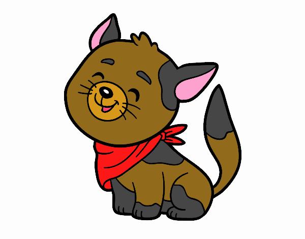 Chat à bandana