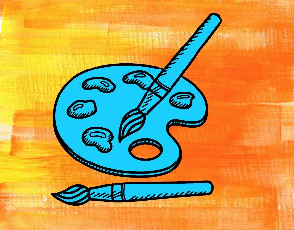 Dessin de cours de peinture colorie par membre non inscrit for Colorie de peinture
