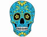 Coloriage Fête des morts au Mexique colorié par emogirle