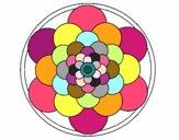 Coloriage Mandala 22 colorié par Petit