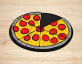 Coloriage Pizza italianne colorié par raphael