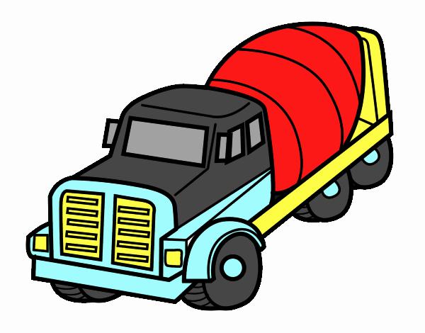 dessin de camion malaxeur colorie par membre non inscrit le 23 de juillet de 2017. Black Bedroom Furniture Sets. Home Design Ideas