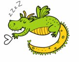Dragon enfantin dormant