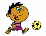 Courir avec le ballon