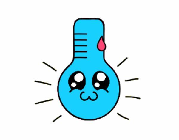 Thermomètre Kawaii