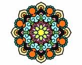 Coloriage Mandala réunion colorié par Gastrin