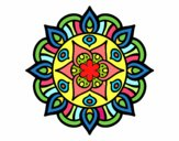 Coloriage Mandala vie vegetale colorié par Gastrin
