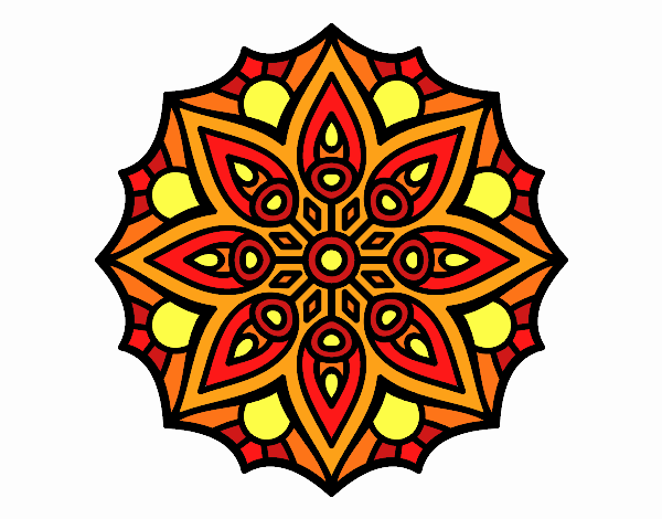Mandala symétrie simple