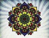 Coloriage Mandala pour se détendre colorié par gabriela