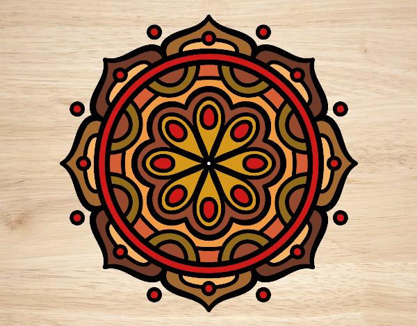 Coloriage Mandala à méditer colorié par gabriela