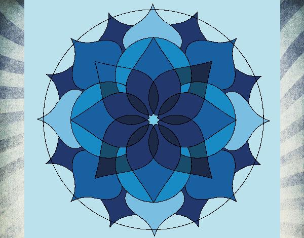 Coloriage Mandala 14 colorié par gabriela