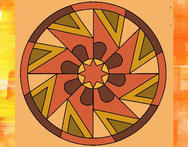 Coloriage Mandala 25 colorié par gabriela