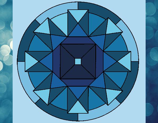 Coloriage Mandala 30 colorié par gabriela