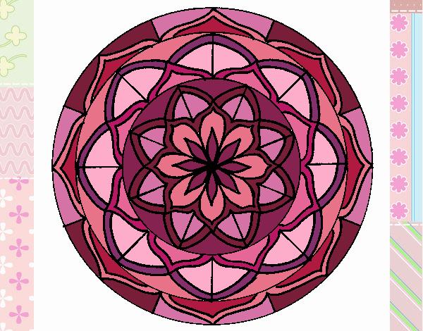 Coloriage Mandala 6 colorié par gabriela