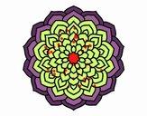 Coloriage Mandala pétales de fleur colorié par Carine