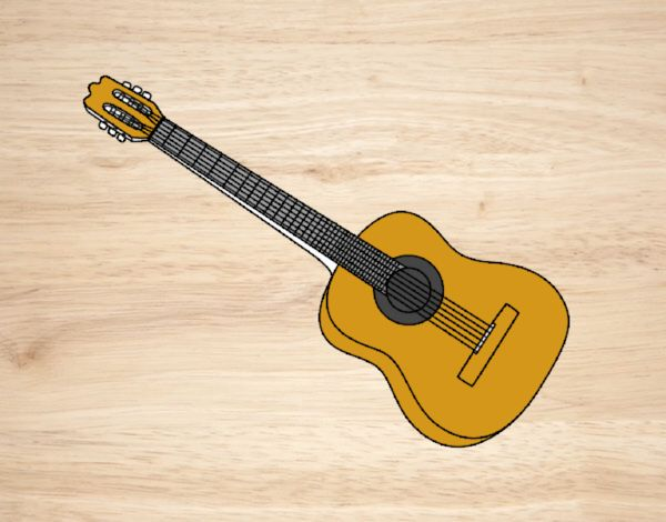 Une guitare espagnole