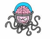Coloriage Cerveau mécanique colorié par noaczodor