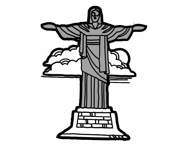 Dessin Christ Redempteur dessin de christ rédempteur colorie par noaczodor le 20 de octobre