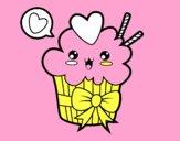 Cupcake kawaii avec boucle