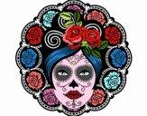 Fête des morts au mexicain femme