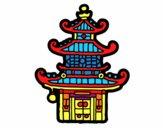 Coloriage Pagode chinoise colorié par noaczodor