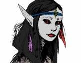 Coloriage Princesse elfe colorié par Moi1