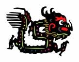 Coloriage Signe du dragon colorié par noaczodor