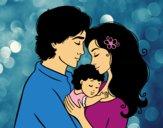 Famille étreinte