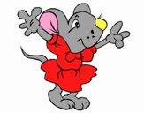 Rat avec une robe