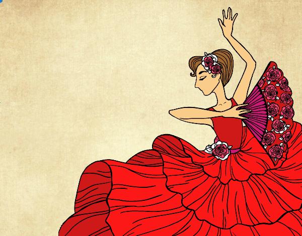 Femme flamenco