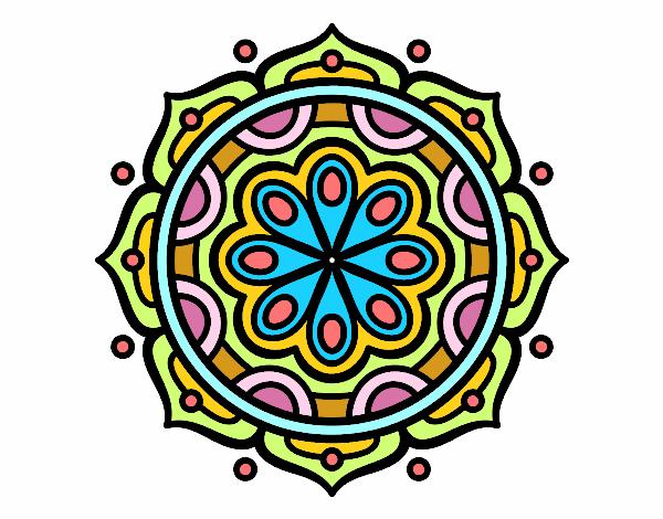 Mandala à méditer