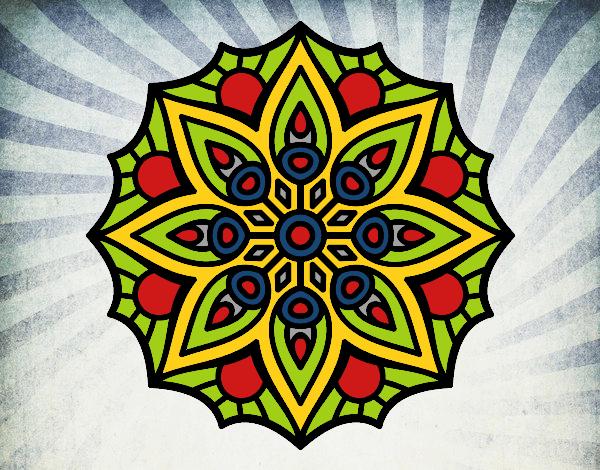 Mandala symétrie simple