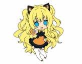 Coloriage SeeU Chibi Vocaloid colorié par magiee