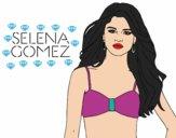 Coloriage Selena Gomez colorié par magiee