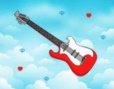 Coloriage Une guitare électrique colorié par magiee
