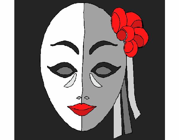 Coloriage Masque italien colorié par KAKE2