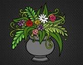 Coloriage Un vase avec des fleurs colorié par KAKE2