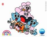 Gumball et les amis heureux